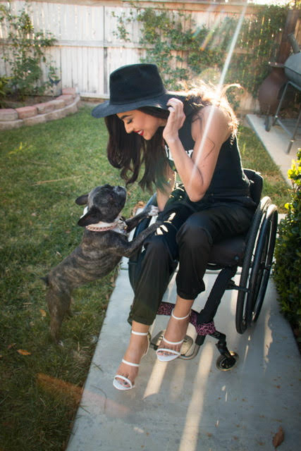 Steph Aiello, with her dog