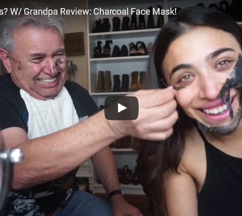 Can it sit with us? W/ Grandpa Review: Charcoal Face Mask!